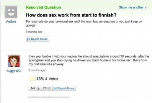 Funny Yahoo Answers 19