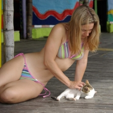 Girls And Cats 12