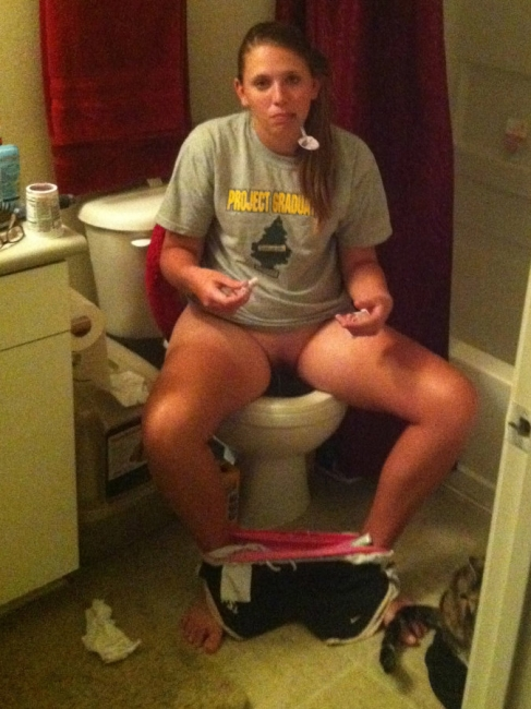 Girls Caught Sitting On The Loo 19