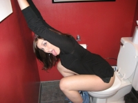 Girls Caught Sitting On The Loo 05