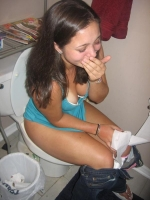 Girls Caught Sitting On The Loo 08