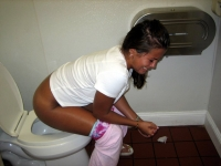 Girls Caught Sitting On The Loo 12