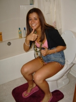 Girls Caught Sitting On The Loo 16