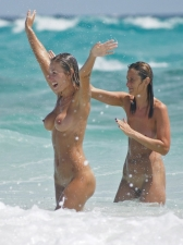 Girls Frolicking In The Surf 35
