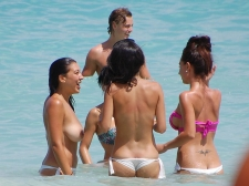 Girls Frolicking In The Surf 15