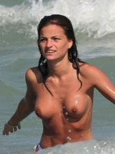 Girls Frolicking In The Surf 06
