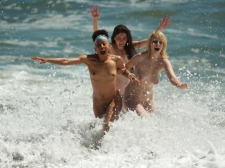 Girls Frolicking In The Surf 24