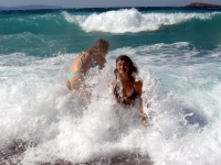 Girls Frolicking In The Surf 29
