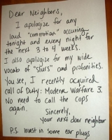 Messages To Neighbours 09