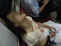 Sleeping On The Subway 01