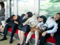 Sleeping On The Subway 02