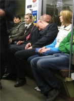 Sleeping On The Subway 03