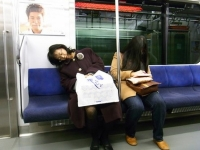 Sleeping On The Subway 04