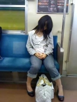Sleeping On The Subway 07