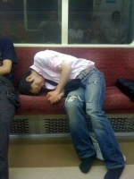 Sleeping On The Subway 08