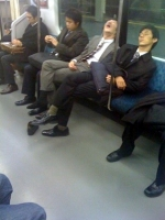Sleeping On The Subway 09