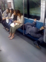 Sleeping On The Subway 10