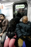 Sleeping On The Subway 11