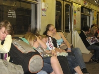 Sleeping On The Subway 12