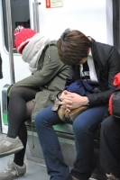 Sleeping On The Subway 15