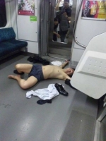Sleeping On The Subway 24