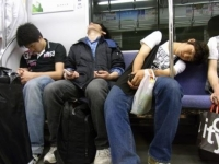 Sleeping On The Subway 26