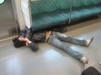 Sleeping On The Subway 30