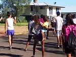 Aboriginal Women Street Fighting Seemingly Just For The Hell Of It