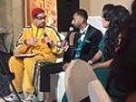 Ali G Impersonator Interviews Couple At Their Wedding