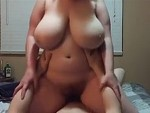 BBW Bounces Those Big Tits Riding On Top