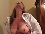 Cougar Rubbing Herself On Cam Doesn't Look Very Happy
