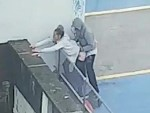 Couple Bang One Out On Top Of A Carpark