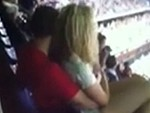 Couple Become Overly Affectionate Watching The Game