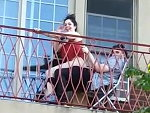 Couple Very Indiscreetly Bang On Their Balcony