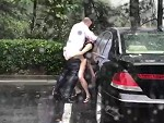 Rich Guy Fucks A Hooker In The Rain By His Car