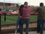 Unashamedly Fingering His Wife At A Ball Game