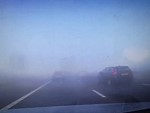 An Unexpected Thick Fog Causes Traffic Carnage