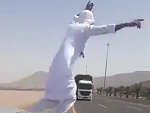 Arab Maniac Playing Chicken On The Highway