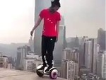 Asstard Hoverboarding Above The City