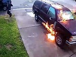 Attempts To Torch A Wet Car