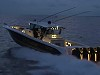 Awesome Hydrasports Custom Boat At Night