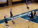 Basketballer Delivers A Brutal Elbow To His Opponent