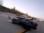 Biker Taken Out By A Rolling SUV Had No Time To React