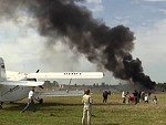 Biplane Crashes During A Russian Airshow