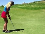 Blonde Chick Is A Golf Dynamo