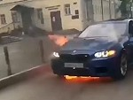 BMW Goes Up In Flames Whilst Driving