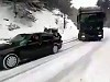BMW Pulls A Huge Truck Up A Snowy Hill