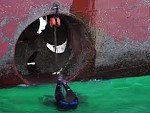 Bow Thruster Replacement On A Carrier Ship