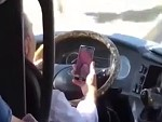 Bus Driver Is Busy Driving And Facetiming