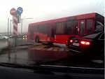 Bus Runs A Red And Destroys A Sedan